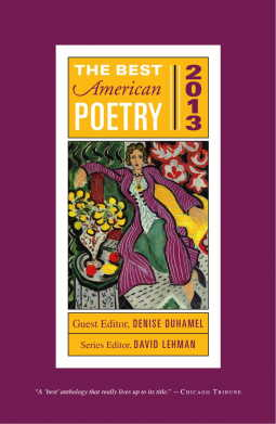 The Best American Poetry 2013 cover